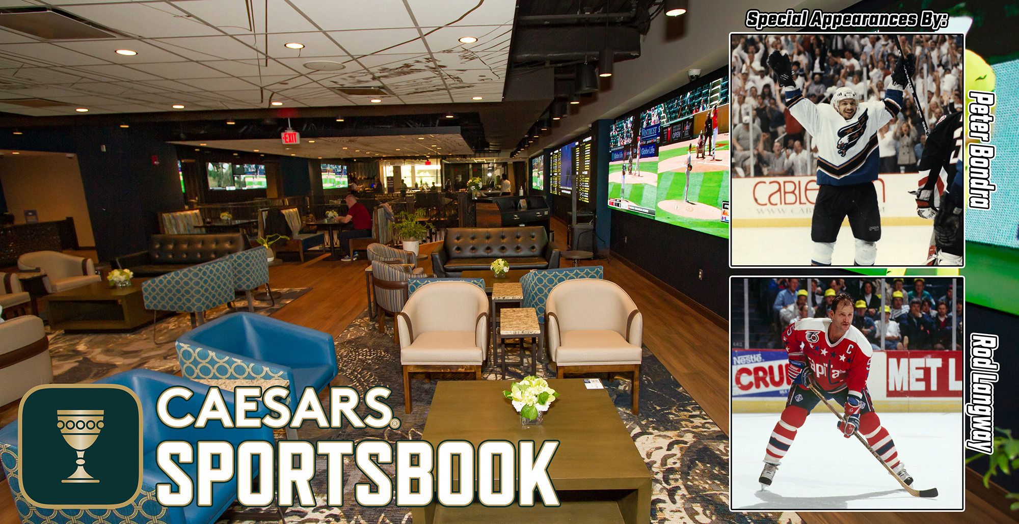 Live Broadcast @ Caesar's Sportsbook for Caps Opening Night – 10/13/21