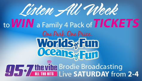 Listen all week to win tickets to Worlds of Fun and Oceans of Fun!