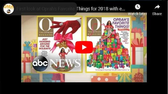 "Oprah's List of ""Favorite Things"" For 2018 is Out"