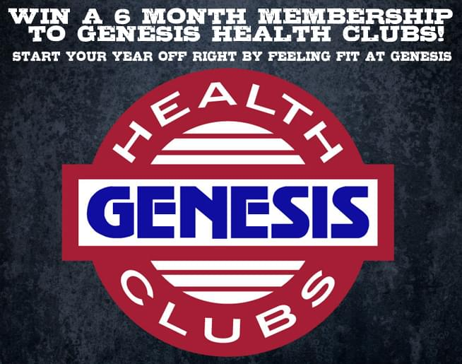 Win a 6-month membership to Genesis Health Clubs!