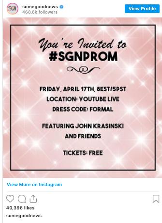 John Krasinski saves Prom! #SGNPROM
