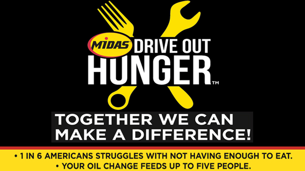 Help Midas Drive Out Hunger! Win a free oil change!