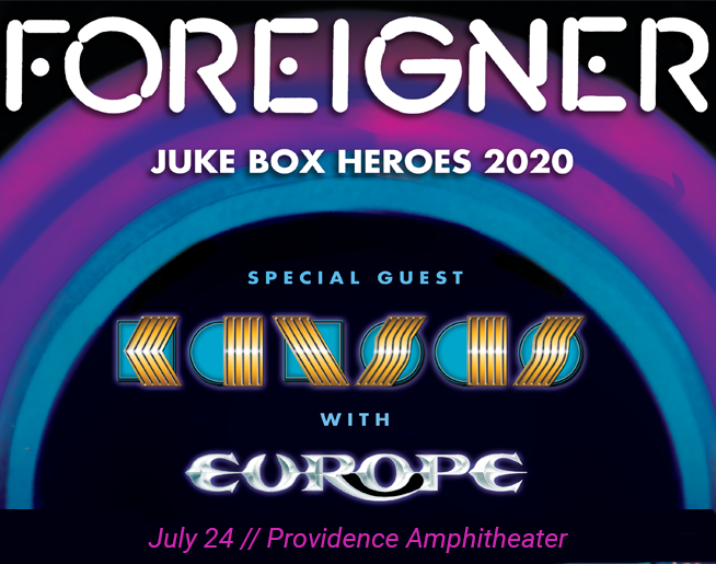 Foreigner with Kansas & Europe on July 24 at PMCA!