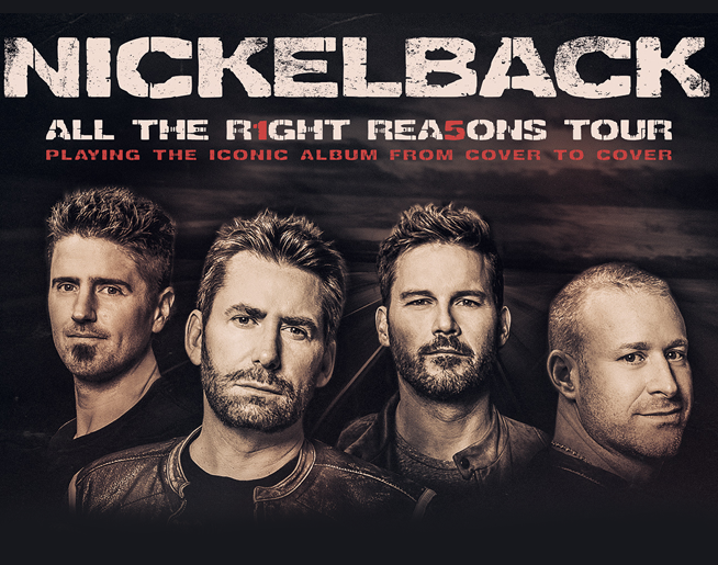 Nickelback at Sprint Center on August 25th