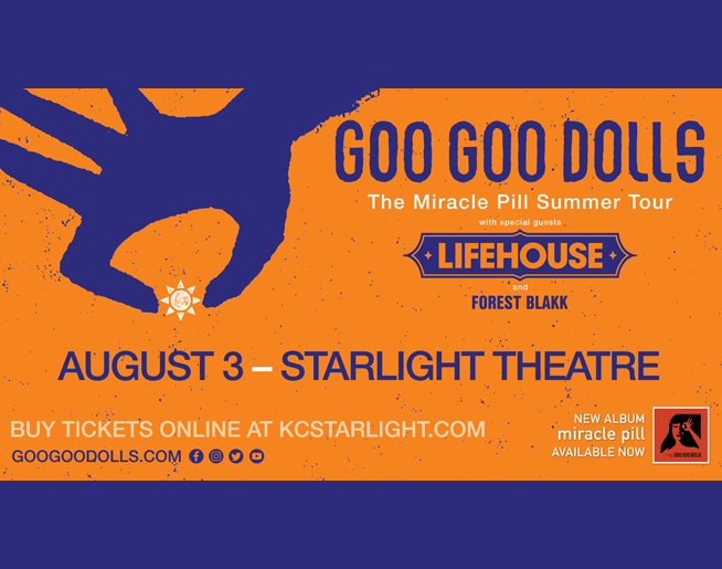 Goo Goo Dolls at Starlight on August 3rd