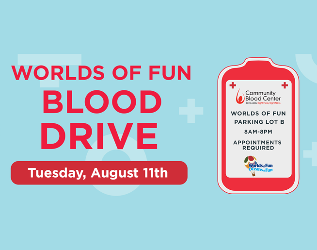 Worlds of Fun Blood Drive – Aug. 11