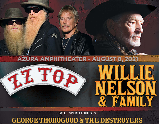 ZZ Top and Willie Nelson with George Thorogood