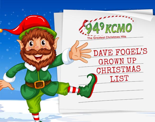 Dave Fogel's Grown Up Christmas List