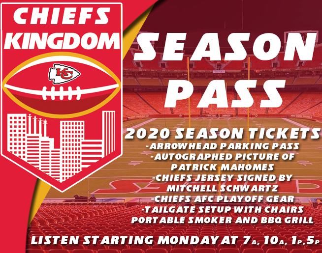 LISTEN TO WIN A 2020 CHIEFS KINGDOM SEASON PASS