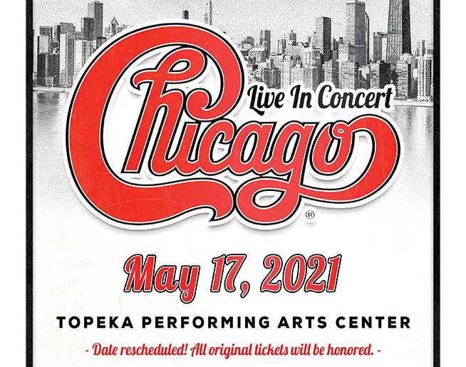 Chicago – May 17 at Topeka Performing Arts Center