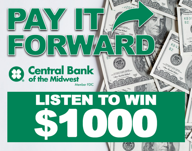 Pay It Forward with $1,000 from Central Bank!