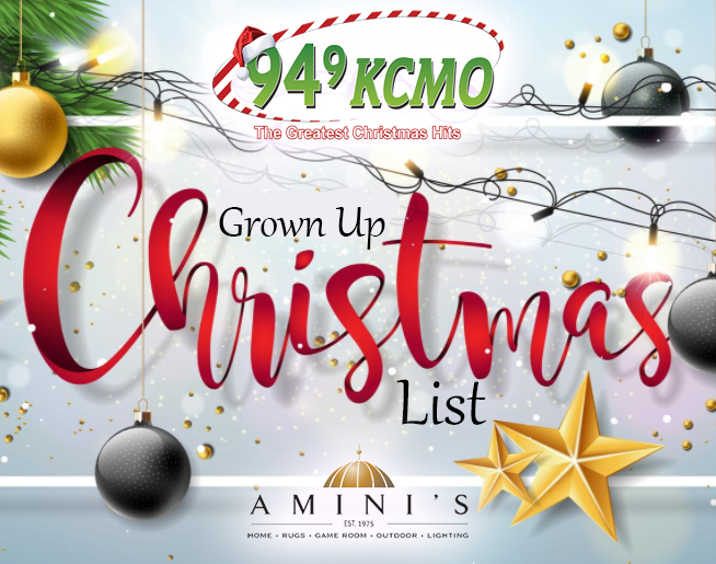94.9 KCMO's Grown Up Christmas List!