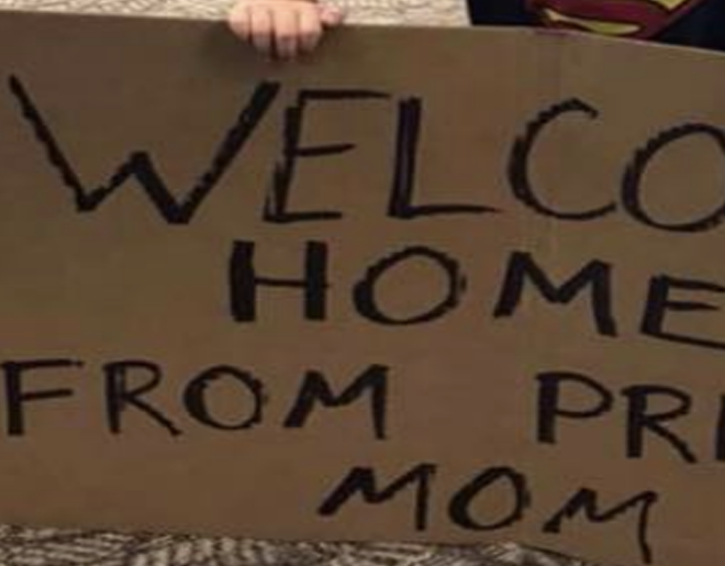 Little Boy's Sign Welcoming Mom Home Is 100% 🔥🔥🔥