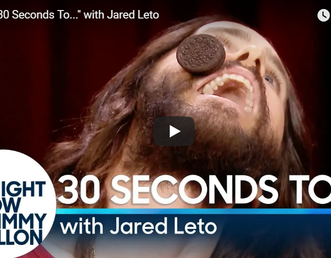 VIDEO: 30 Seconds To… With Jared Leto And Jimmy Fallon