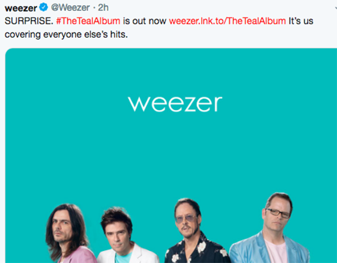 Surprise! // Weezer Drops Album Of Covers