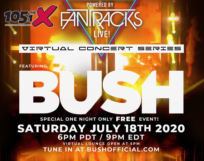 Virtual Concert // BUSH // This Saturday // 8pm CST