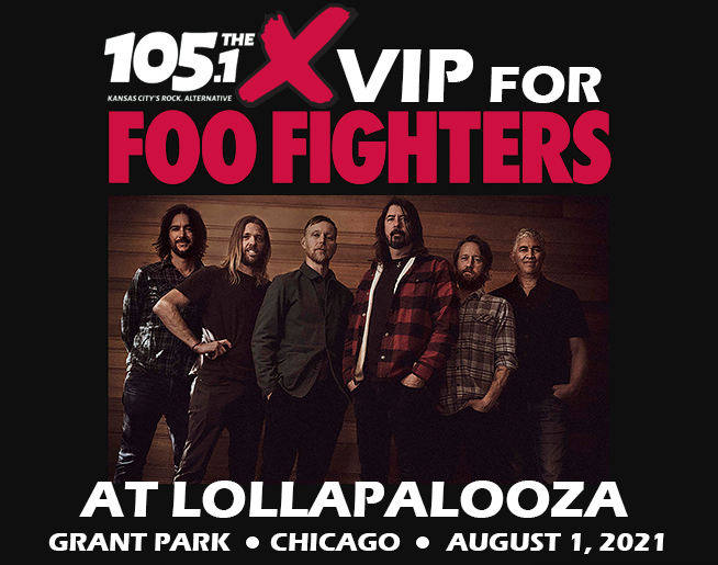 Win VIP tickets to see Foo Fighters at Lollapalooza!