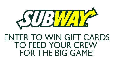 Enter to win SUBWAY gift cards!