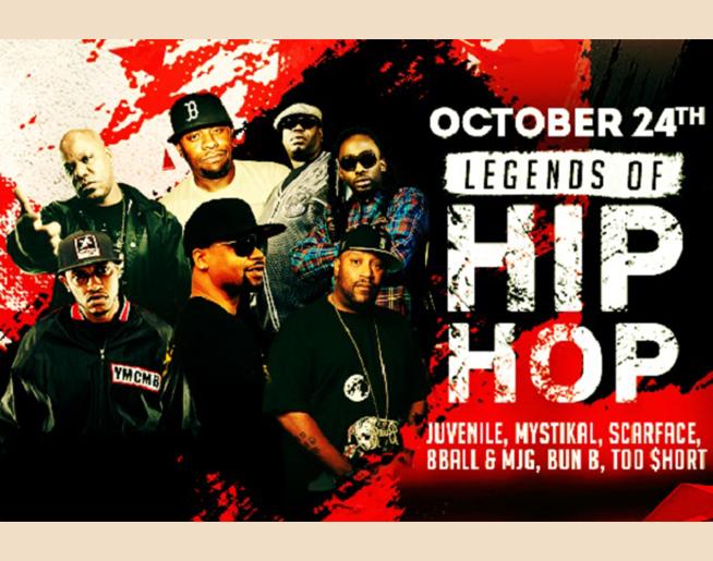 107-3 Presents the Legends of Hip Hop – October 24th
