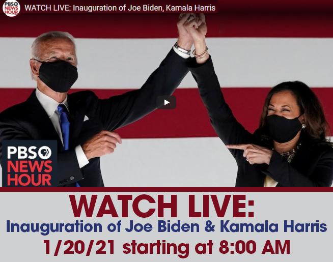 WATCH LIVE: Inauguration of Joe Biden, Kamala Harris