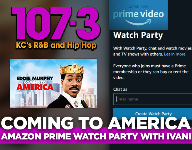 Coming to America ONE Watch Party on Amazon with Ivani