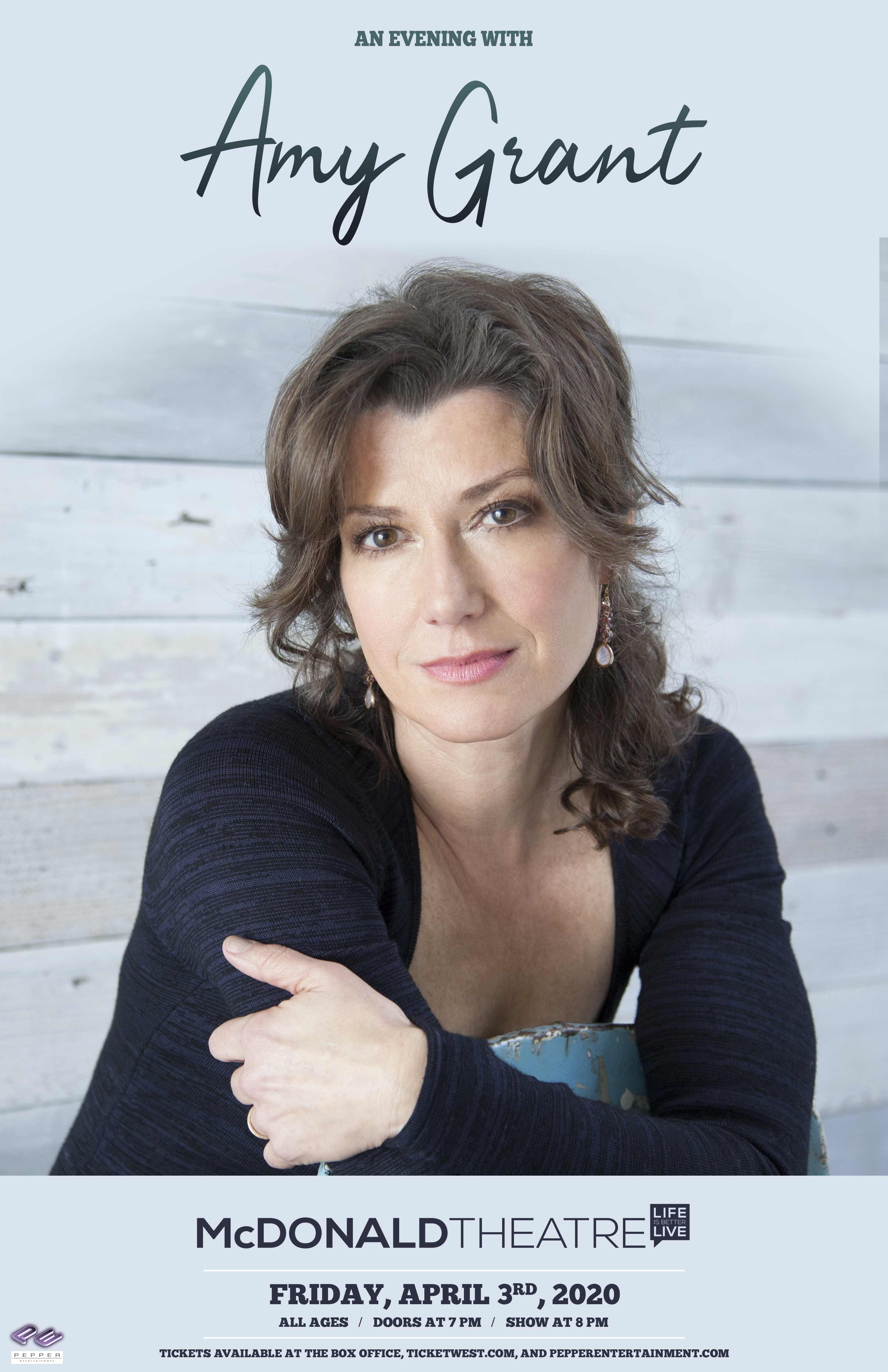 An Evening with Amy Grant April 3rd