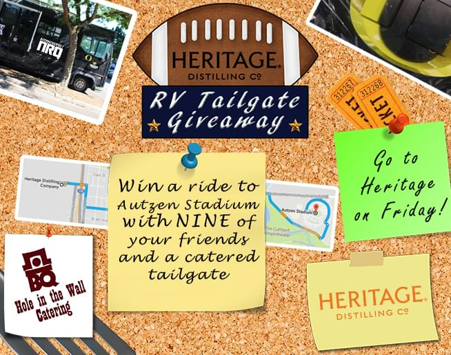 Heritage Distilling's RV Tailgate Giveaway