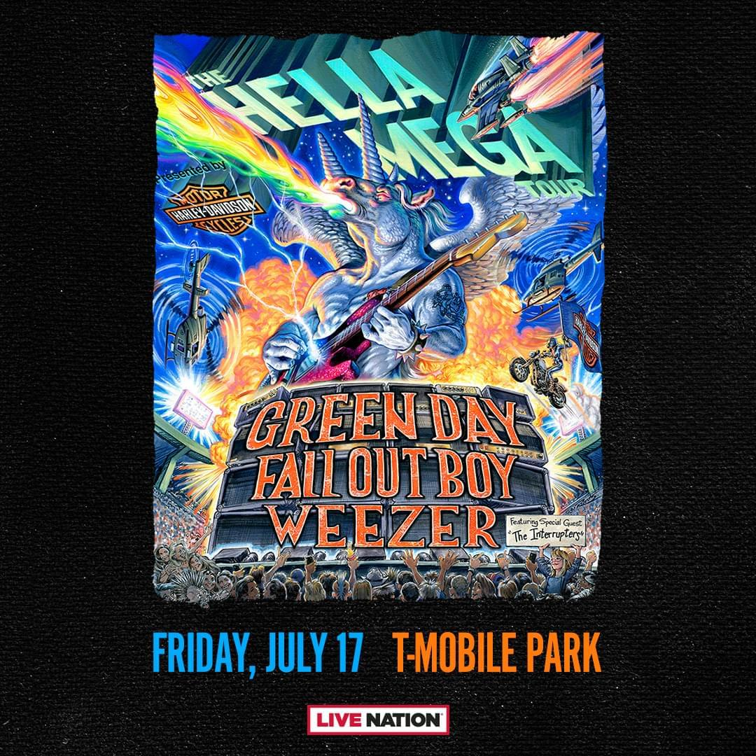 HELLA MEGA TOUR: Green Day, Weezer, Fall Out Boy Jul. 17th