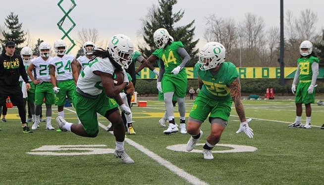 Oregon Football Spring Camp Report 3-7-18
