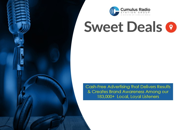 Advertise with us with SWEET DEALS!