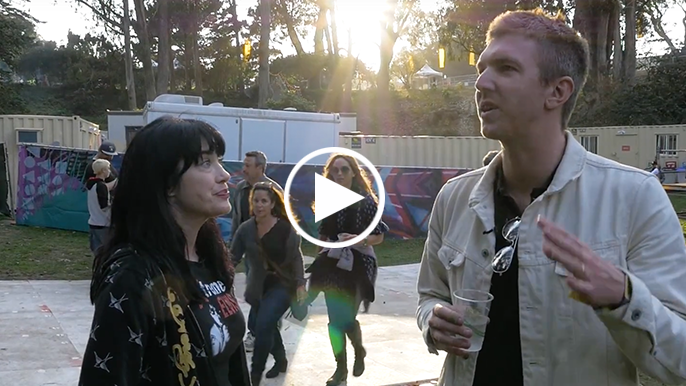 Inside Outside Lands: Backstage interview with Hamilton