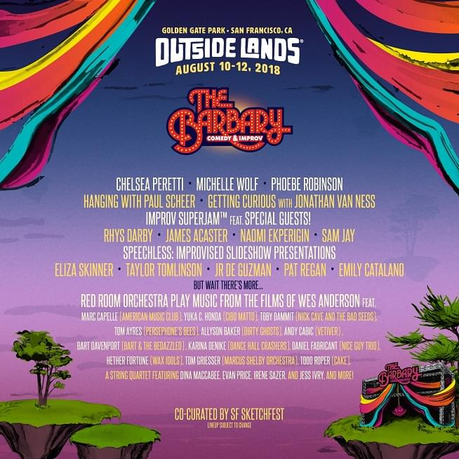 outside lands 2018 announces barbary lineup