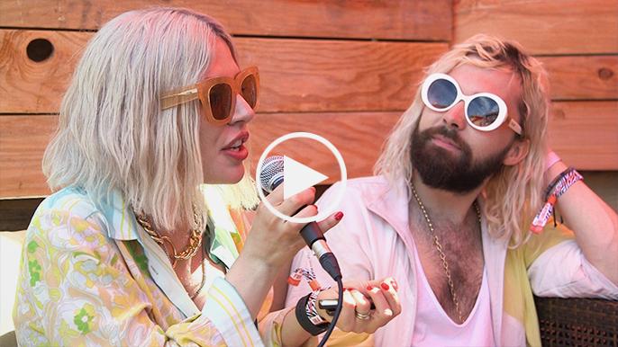 Flora Cash share their tour essentials with Danica at BottleRock