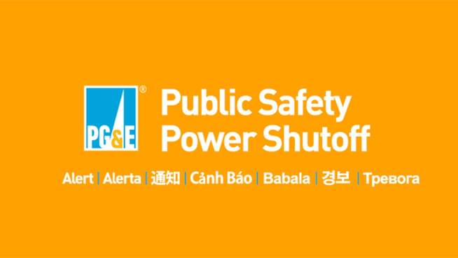 PG&E Will Implement Public Safety Power Shutoff for 30 Northern California Counties