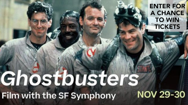 Enter for your chance to win tickets to see Ghostbusters with The SF Symphony!