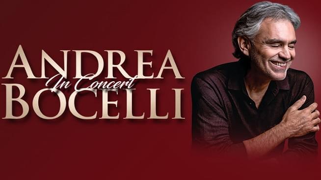 June 13: Andrea Bocelli – Event Postponed