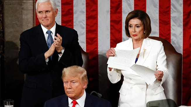 WATCH: Nancy Pelosi Rips Up Trump's State of the Union Speech
