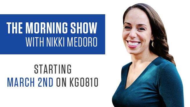 KGO 810 announces the The Morning Show with Nikki Medoro starting March 2nd