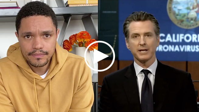 Gavin Newsom tells Trevor Noah how Silicon Valley saved bunk federal-government ventilators in 72-hours