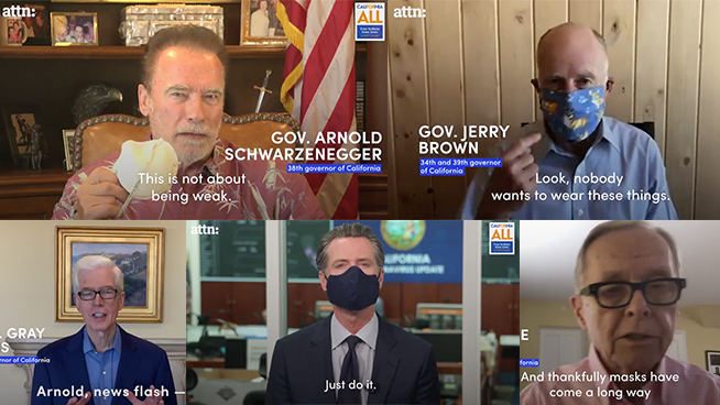 CA Governors Band Together In Video Urging The Importance Of Wearing A Mask