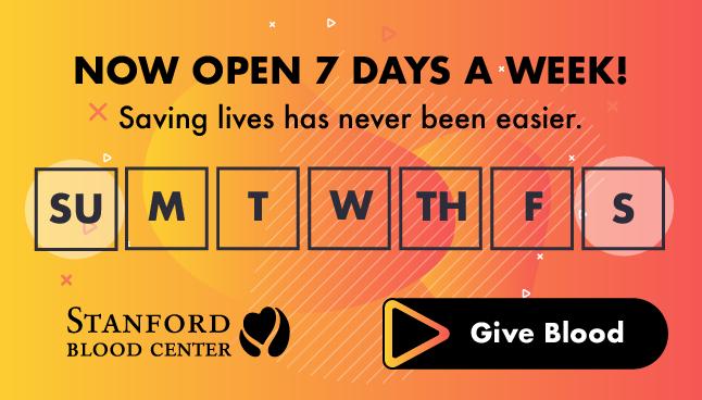 September 1-30, 2020: Stanford Blood Donations