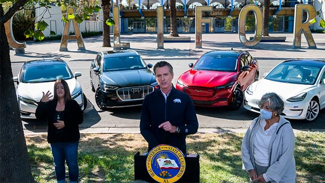 California Will End Sale of New Gasoline-Powered Cars by 2035