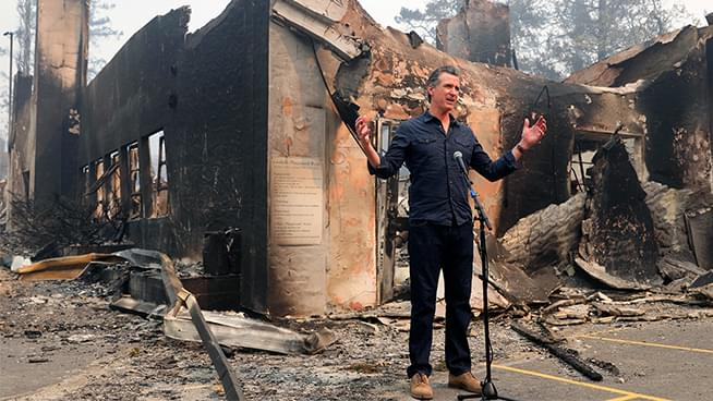 Governor Newsom Visits Damage Wreaked by Glass Fire
