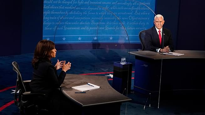 In VP Debate, Plexiglass was an Extra Participant on the Stage