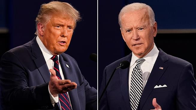AP FACT CHECK: Rhetoric from Trump, Biden in the non-debate