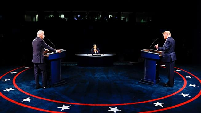 The Latest: Final Debate Ends on Different Tone Than the 1st