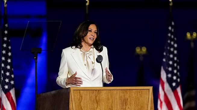 Kamala Harris pays tribute to black women's role