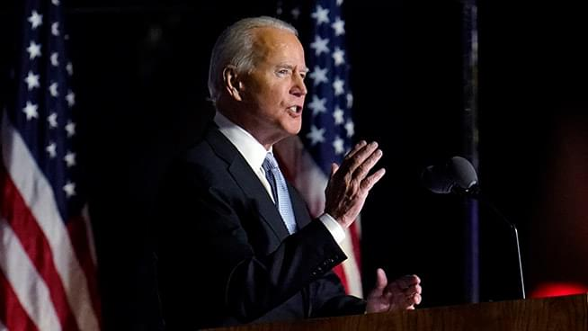 Biden pledges to be a president who seeks unity
