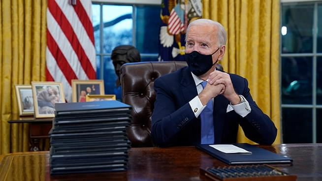 President Joe Biden Signs 17 Executive Actions on his First Day in Office