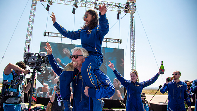 Stories from the Sky: Billionaire Richard Branson successfully rockets to space in his own ship